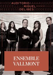 ENSEMBLE VALLMONT - Blog del Auditorio Miguel Delibes