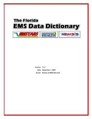 Florida EMS Data Dictionary - Florida Department of Health