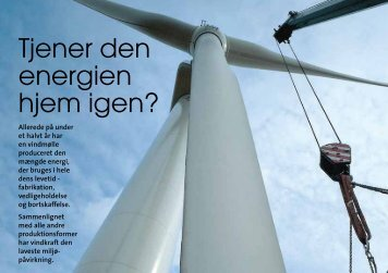 Ny mytedræber: Tjener en vindmølle energien hjem igen?