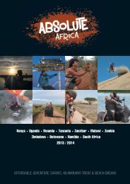 Download our brochure (21.1mb) - Absolute Africa