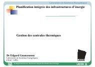 Planification intégrée des infrastructures d'énergie Gestion ... - EPFL