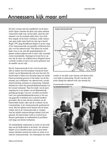 over Anneessens - Samenlevingsopbouw Brussel