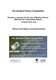 The Sentient Future Competition - Embedded WiSeNts