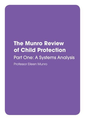 The Munro Review of Child Protection - Digital Education Resource ...