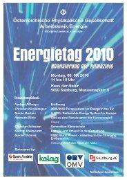 5. Energietag am 06.09.2010 - Arbeitskreis Energie