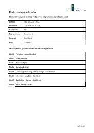 Undervisningsbeskrivelse - Thy-Mors HF & VUC