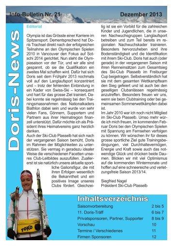 Info-Bulletin Nr. 21 - Doris Trachsel