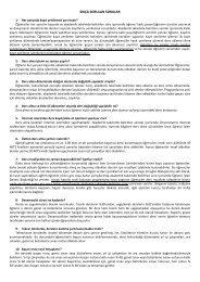sıkça sorulan sorular - Fen Edebiyat Fakültesi - Karabük Üniversitesi