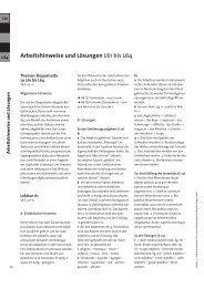 Arbeitshinweise und Lösungen L61 bis L64