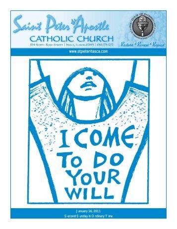 Bulletin - January 16 , 2011 - Saint Peter The Apostle Catholic Church