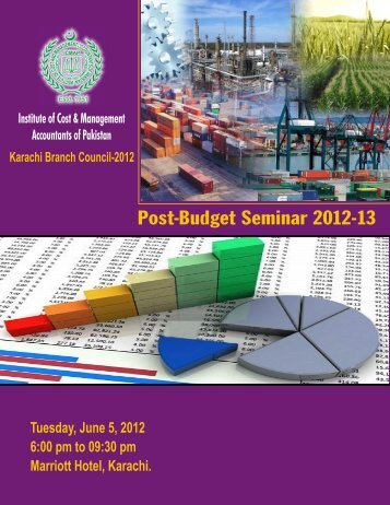 Flyer-Post Budget Seminar 2012-13 - Institute of Cost and ...