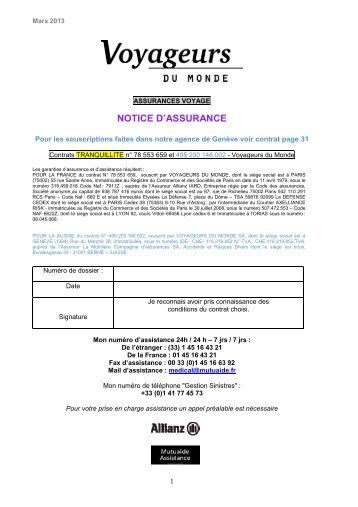 Convention Tranquillité - Voyageurs du Monde