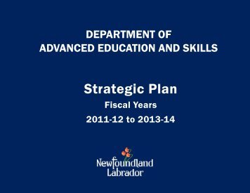 2011-2014 Strategic Plan - Department of Advanced Education and ...