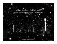 Urban Design + Public Health - the International Academy of Design ...