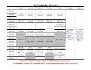 Pool Schedule July 25-31, 2011 CLOSED Due to ... - City of Humboldt