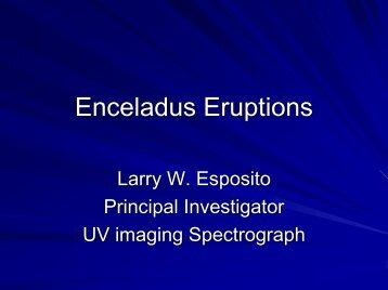 Enceladus Eruptions - Cassini