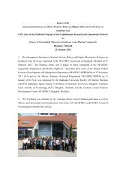 2012/02/27 Report of the Seminar on Marine Fisheries Policy and ...