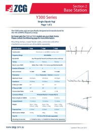 Yagi Y300 Series Base Station Antennas, 100 to 250 ... - ZCG Scalar