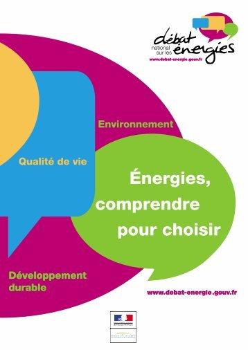 Débat national sur les énergies - Vie publique
