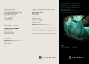 Workshop zur Transseptalen Punktion / ACP ... - St. Jude Medical