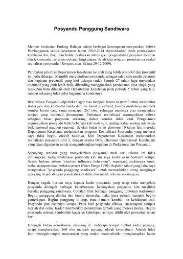 Posyandu Panggung Sandiwara - Blog Staff UI
