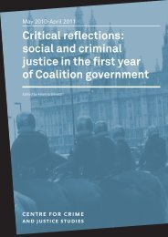 Critical reflections: social and criminal justice in the first year of ...