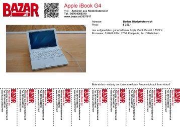 Apple iBook G4 - Bazar.at
