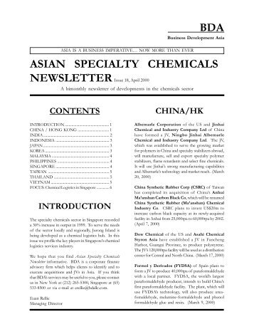 Issue 18, April 2000 - Business Development Asia LLC