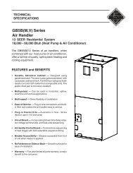 GB5B(M,V) Series of air handlers - Nature Air Corp