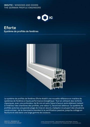 Fiche produit Eforte - Inoutic