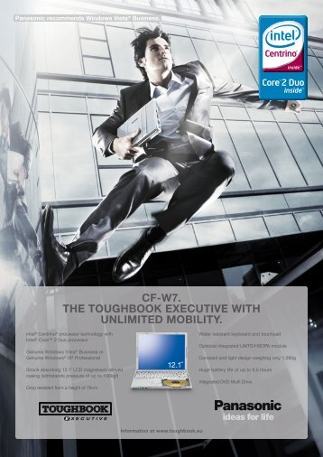 cf-w7. the toughbook executive with unlimited ... - Koneo Webshop