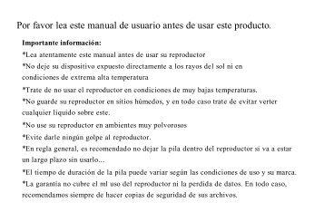 Por favor lea este manual de usuario antes de usar ... - Energy Sistem