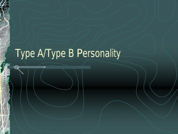Type A/Type B Personality