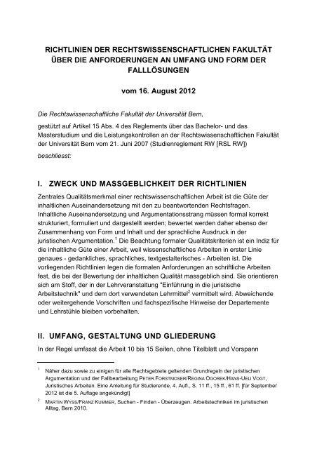 Richtlinien Bachelorarbeit Pdf 31kb Rechtswissenschaftliche