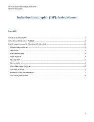 Individuell studieplan (ISP): Instruktioner