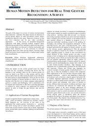 human motion detection for real time gesture recognition: as ... - ijater