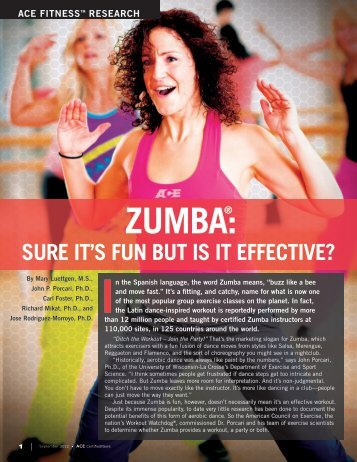 ZUMBA:® - American Council on Exercise