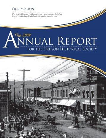nnual Report - Oregon Historical Society