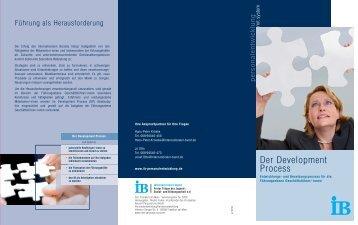 Development Process - IB Personalentwicklung