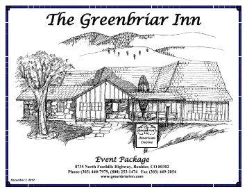 brunch items - The Greenbriar Inn