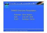 TANGO Overview Presentation - Aeronautics Days 2006