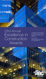 Excellence in Construction Awards - Associated Builders and ...