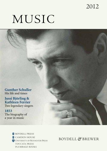 2012 music - University of Rochester Press