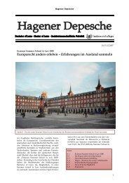 Hagener Depesche Nr. 10 - FernUniversität in Hagen