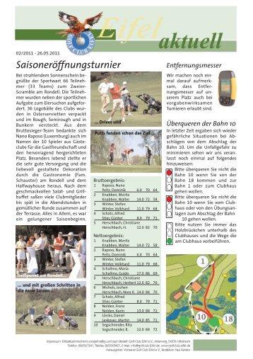 Charity Turnier 2011 - Golf Club Eifel e.V.