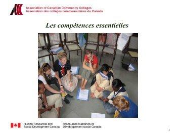 Les compétences essentielles et les PME - Base de données en ...