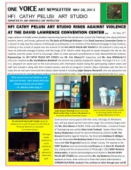 May 28 2013 ONE VOICE Art Newsletter
