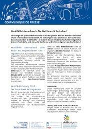WorldSkills International – Die Welt braucht Techniker! - IAWM