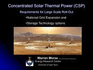 Concentrated Solar Thermal Power (CSP) - erc - University of Cape ...