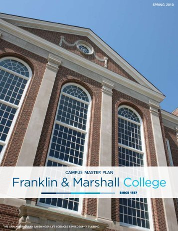 CAMPUS MASTER PLAN - Franklin & Marshall College